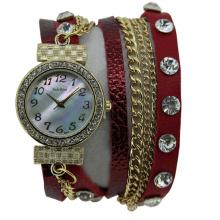 Hot Sell Multi Color Long Strap Quartz Ladies Watch