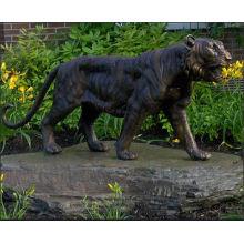 Garden Wild Life Size Bronze Tiger Statue