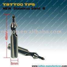 Новый стерильный татуировочный наконечник из нержавеющей стали (R)