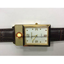 2 in 1 Windproof Flameless USB Lighter Watch Japan Movement