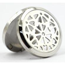 30mm Rd Magnet Stil Edelstahl Parfüm Diffusor Locket Anhänger