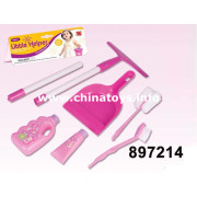 Popular PP Plastic Kids Little Helper Toy Pink Tool Set with All Certificate Toys for Girl (897214)