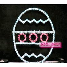 Изысканные милые детские аксессуары для волос кристалл яйцо праздник тиара
