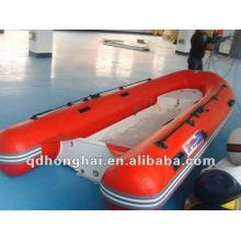 bateau gonflable de pêche rib380B bateau rigide sans console