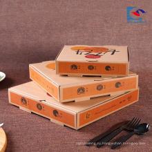 бесплатный образец изготовленный на заказ напечатал коробку гофрированной бумаги для пиццы