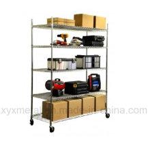 Chrome Steel Mobile Wire Shelf
