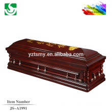 red wooden ash casket from chinese manufacture