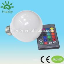 10w e27 led rgb bombilla dmx llevó luz de cuerda dmx rgb led bombilla luz uso residencial