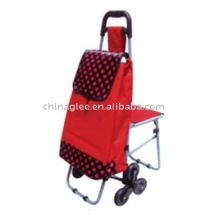 folding shopping cart with chair