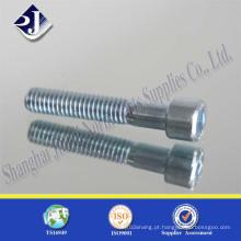 Parafuso de soquete sextavado azul-branco DIN912 zincado