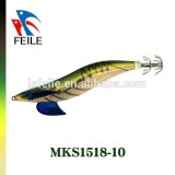 colorful squid jigs fishing lures with high quality Japanese cloth