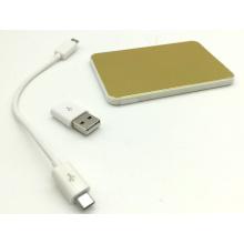 Ept 2016 Wolesale & Retail 2000mAh Kreditkarte Power Bank mit 2/4/8 GB USB-Stick für Werbegeschenke