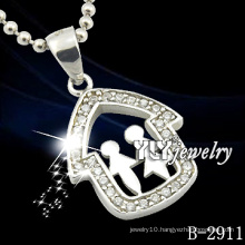 Special Design Couple Cartoons Silver Jewelry Pendant