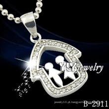 Pingentes de jóias de prata de desenhos especiais casal de Design