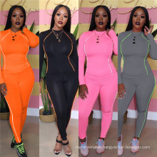 C0486  two piece pant set women activewear sets for women spring 2020 women two pieces