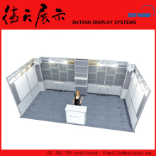 6x3 Lightweight Gray China Booth With Acrylic Jewelry Display Case