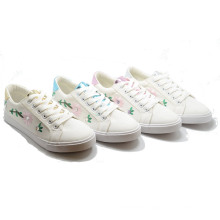 White Summer Inwrought Vulcanization Injection Rubber Women Shoes