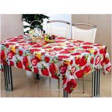 Tablecloth transparente impresso PVC dos testes padrões das cores completas e fácil limpar para a casa / partido