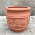 Red Clay Pottery Material Flower Pots & Planters
