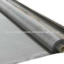 Stainless Steel Plain Woven Wire Mesh, SS304/316/316L/410, 3-200 Mesh/0.025-6mm Wire Dia, for Filter