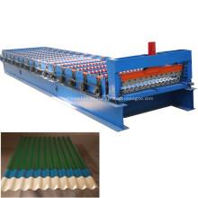 Máquina para fabricar láminas de techo corrugado