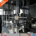 Heavy duty hydraulic guide rail cargo lifts for warehouse elevator