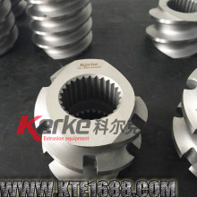 wear corrosion resisting extruder screw and barrel