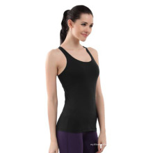 Sexy preto Racer Back Tops para as mulheres