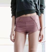 Shorts de yoga con cordones laterales para mujer
