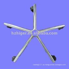 perna de móveis de alumínio perna de cadeira de fundição de alumínio