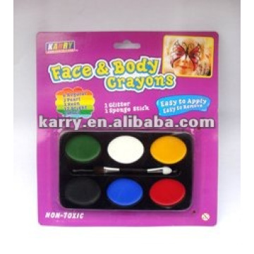 neon 6-color Face Paint(oval-shaped, card packaging)