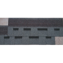 Graue Dachfliese / Johns Manville-Asphalt-Schindel / selbstklebendes Überdachungs-Material (ISO)