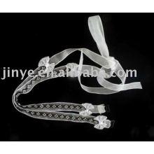 Mode bling bling sangle de bijou de soutien-gorge avec décoration de l'arc