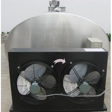 Refrigerated milk cooling storage tank
