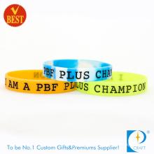 Wholesale Embossed Logo Segment Rubber Silicone ID Bracelets