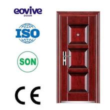Diseño de puerta de acero barato seguridad de acabado de superficies