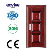 Projeto de porta de aço barato segurança de acabamento superficial