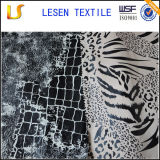 100% polyester cheap golden leaf printed satin fabric , printed satin fabric