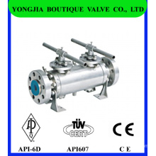 Double Block and Bleed Industrial Ball Valve