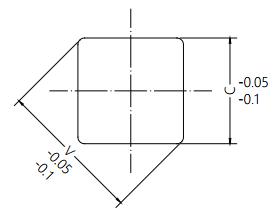 Disk Damper Square Hole