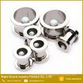 Opal Center 316L Surgical Steel Screw On Ear Flesh Tunnel Gauge Body Jewelry