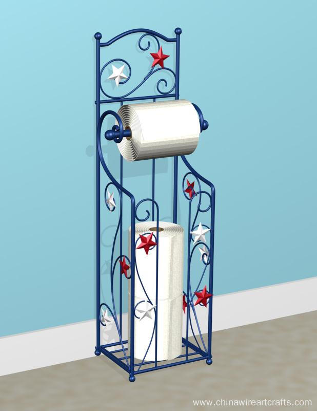Patriotic Toilet Paper Holder with Storage Stand