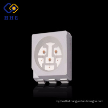 surface mount type full color high lumen 5050 rgb smd led 3 chips for colorful strip