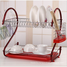 Colorful Metal Wire Dishes and Plates Display Rack