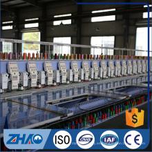18 cabezales planos con cadena de puntada chenille mixta máquina computarizada
