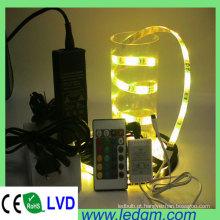 5050 LED RGB Strip Light com controlador e driver