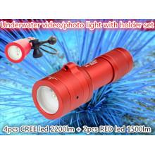 2014 Профессиональный подводный светодиодный видео / фото батарейки