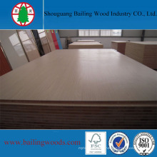 Wood Grain Melamine Falcata Core Blockboard for Furniture