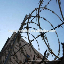 anti-climb galvanized razor wire BTO22 concertina wire roadblock razor barbed wire