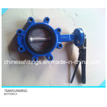 Manual Operation Handle Single Stem Lug Support Butterfly Valve